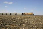 One unit wonder eastbound hopper train