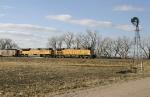 Hopper train eastbound