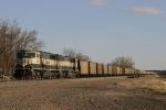 Coal train sits