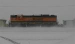 SD9 kicking up some snow