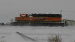 SD40-2 messing around in the yard