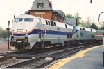 "Westbound ""Capitol Limited"" passes the historic station"