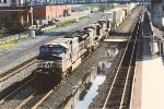 Eastbound intermodal coming downgrade