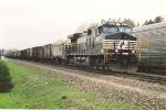 Eastbound ballast train