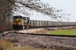 North bound CSX 9 ballast train.