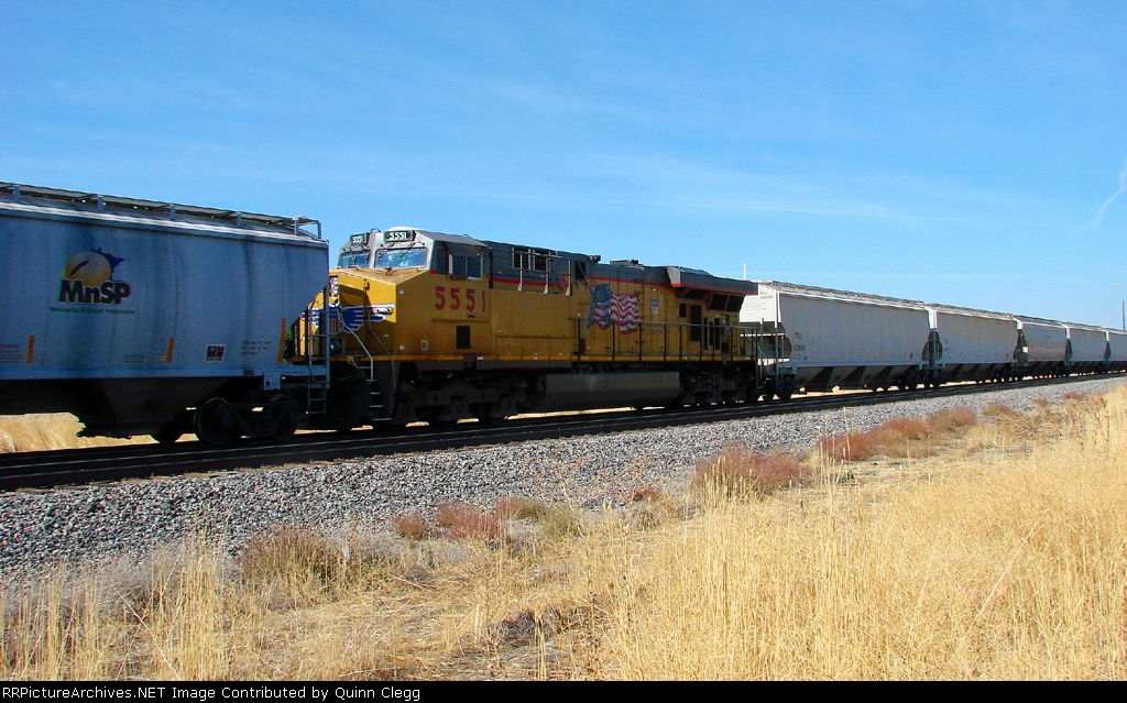 10-10-2010 GREETS UNION PACIFIC GE AC45CCTE AT PROVO WORKING AS D.P.U UNIT.