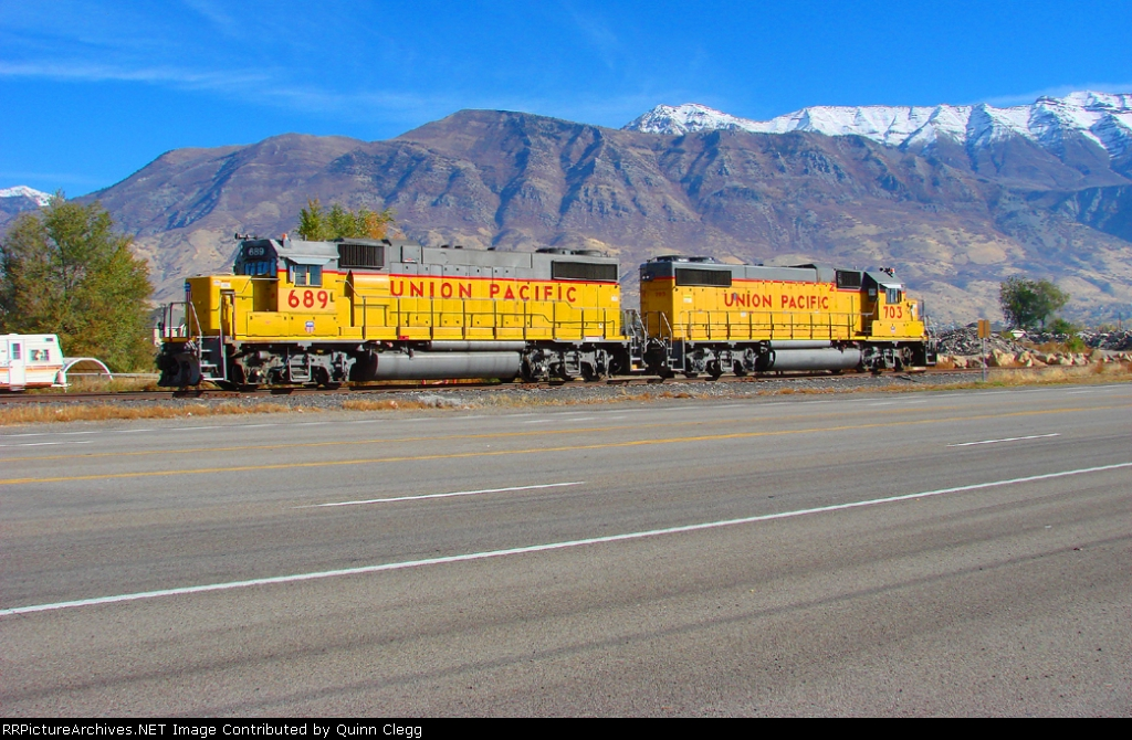 UNION PACIFIC'S LJL 41 (PROVO SWITCHER) AMERICAN FORK,UTAH NOVEMBER 5,2010.