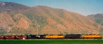 Union Pacific's CCVLA rolls west along the UP Provo Subdivision.