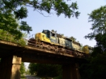 CSX 8070 crosses the old ACL RR highway overpass