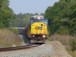 CSX 8756 with a string of autoracks