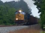 CSX 4776 leads a coal drag