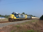 """CSX 2316 with it's """"mother"""" pulling a HERZOG ballast train"""