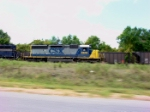 CSX 8818 in motion