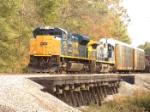 CSX 4839 crosses Cedar Creek