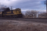 ATSF U23C 7504 heading south out of Albuquerque