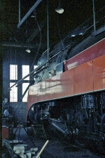 SP 4449  inside Brooklyn Roundhouse
