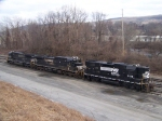 Norfolk Southern 5158, 8846, and 8756