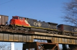 CN 2508 ON P & I RR BRIDGE