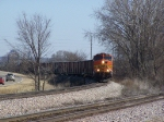 BNSF 5057 Rounds the Main 1 Curve at MP 183 of the Aurora Sub with a Westbound Manifest