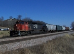 CN 5349 Was the Only Power for this 130 Car Freight Train