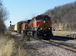 Dash-9Ws Lead Mixed Freight East on the Aurora Sub