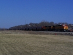Eastbound Grain Train Idles Near the Frentress Lake Marina