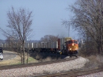 BNSF 5056 Rounds the Main 1 Curve at MP 183 on the BNSF Aurora Subdivision