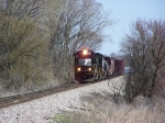 BNSF Manifest Train Comes into View