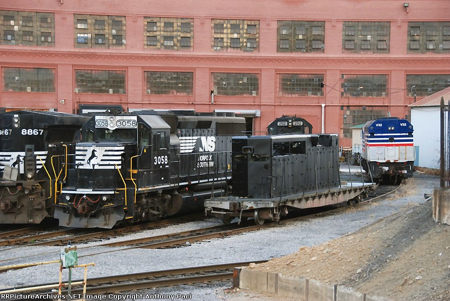 A collection of locomotives