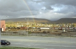 A rainbow over the Juniata Locomotive Shop
