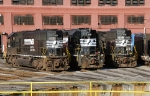 EMD locomotives at the Shop