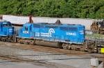 A Conrail blue SD40-2