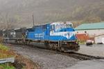 A Conrail blue SD80MAC