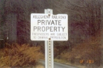 ALY Private Property Sign