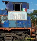 Mexican locomotive stored