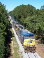 CSXT and Bayline power charge out of town