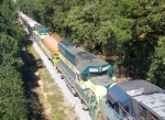 Bayline units seen on rock train