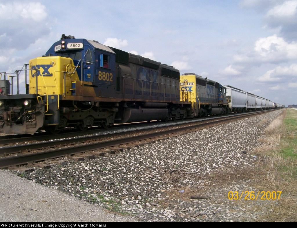 CSX 8802 leads Q367-26 through Reno