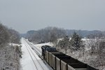CSX T361-03 through the Indiana Winter Wonderland