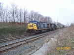 CSX 353 & 717 at the bridge at MP34
