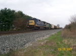 CSX 7549 leads a CSXT grain move