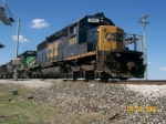 CSX 8828 leads 2 others on a mix eastbound