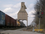 An old steam coaling tower