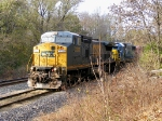 CSX Q647-11 waits for a clear on Baker Siding