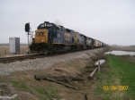 CSX 1514 leads J771 through Crawfordsville