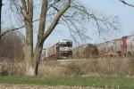 Westbound grain tied down in Tilton Yard