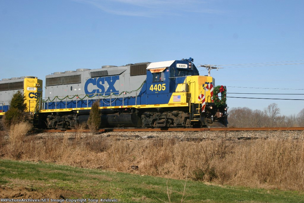 CSX 4405 Bright Future Santa Train