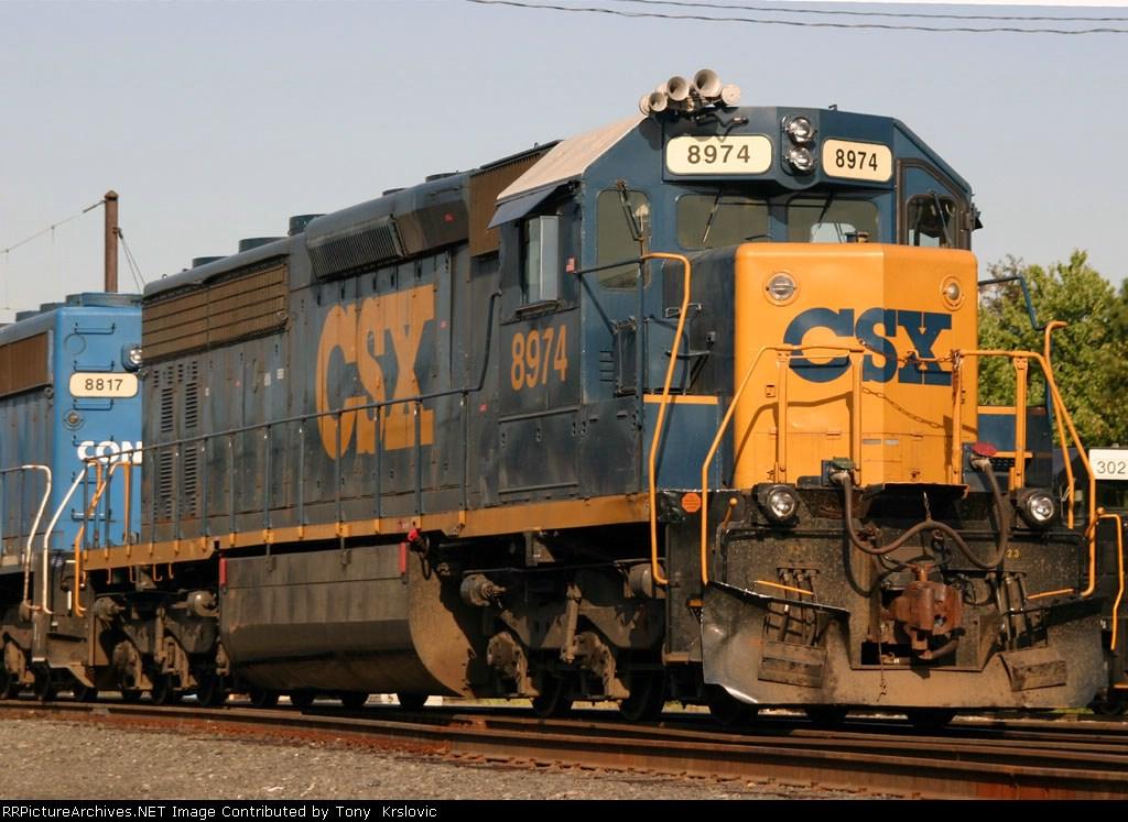 CSX 8974 a former Erie Lackawanna Locomotive