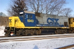 CSX 1543 Interchanging with the Raritan Central