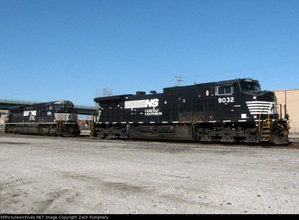 Tied Down NS Locomotives